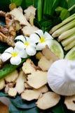 Kuuroordstilleven met kruiden Thaise bal Royalty-vrije Stock Afbeeldingen