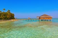 Kuuroordzaal op het eiland van de Maldiven Stock Afbeelding