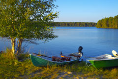 Kuusamo Lake in Finland. Royalty Free Stock Photo