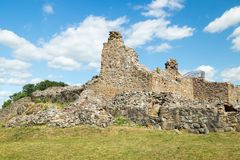 Kuusisto castle ruins at sunny summer day in Kaarina, Finland.  stock photography