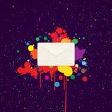 Kuvert för bokstäver Fotografering för Bildbyråer