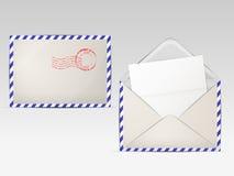 Kuvert för bokstäver vektor illustrationer