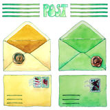 Kuvert för flygillustration för näbb dekorativ bild dess paper stycksvalavattenfärg Royaltyfri Fotografi