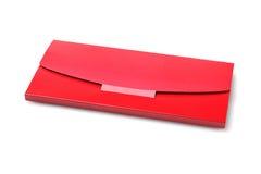Kuvert för rött kort Royaltyfri Fotografi