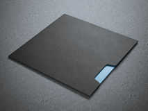 Kuvert för svart fyrkant Fotografering för Bildbyråer
