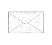 Kuvert - vektorillustration Arkivfoton