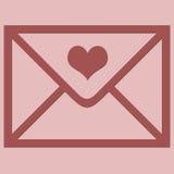 kuvertförälskelse Royaltyfri Foto