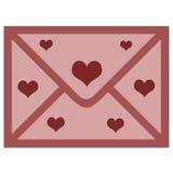 kuvertförälskelse Royaltyfria Foton