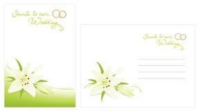 kuvertinbjudanbröllop vektor illustrationer