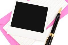 kuvertnotepaper Royaltyfri Foto