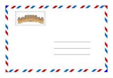 kuvertportostämpel royaltyfri illustrationer