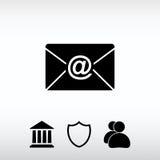 Kuvertpostsymbol, vektorillustration Sänka designstil Arkivbild