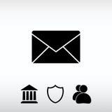Kuvertpostsymbol, vektorillustration Sänka designstil Royaltyfria Bilder