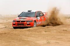 Kuwait 2012 samlar - den Mitsubishi lanceren Evo IX Arkivfoto