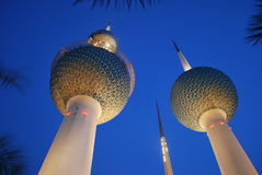 Kuwait. Tower with the blue sky Royalty Free Stock Photo