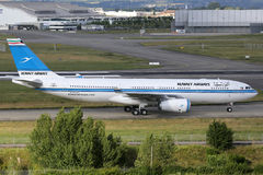 Kuwait Airways Airbus A330-200 airplane Royalty Free Stock Photos