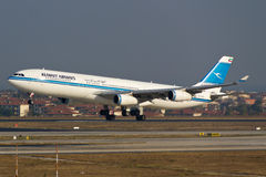 Kuwait Airways Airbus A340 Royalty Free Stock Photo