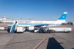 Kuwait Airways Airplane Stock Photo