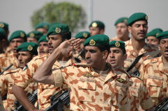 Kuwait Army Show. Army Show goes in Kuwait in feb 2007 for his Husein's the emir (President of kuwait Stock Photos