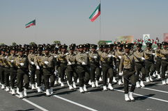 Kuwait Army Show. Army Show goes in Kuwait in feb 2007 for his Husein's the emir (President of kuwait Stock Images
