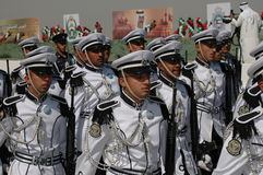 Kuwait Army Show. Army Show goes in Kuwait in feb 2007 for his Husein's the emir (President of kuwait Stock Photography