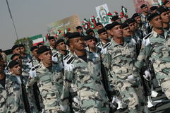 Kuwait Army Show. Army Show goes in Kuwait in feb 2007 for his Husein's the emir (President of kuwait Stock Image