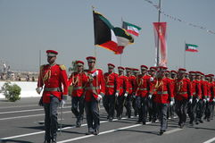 Kuwait Army Show. Army Show goes in Kuwait in feb 2007 for his Husein's the emir (President of kuwait Royalty Free Stock Image