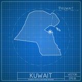 City map blueprint stock illustration illustration of background kuwait blueprint map template with capital city royalty free stock images malvernweather Images