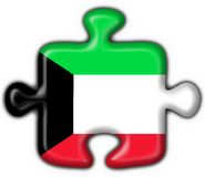 Kuwait button flag puzzle shape Royalty Free Stock Image