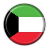 Kuwait button flag round shape Royalty Free Stock Photography