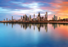 Kuwait City. Amazing Kuwait City During Sunset royalty free stock image