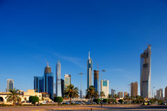 Kuwait City is becoming populated by skyscrapers Stock Images