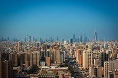 Kuwait City horisont Royaltyfri Fotografi
