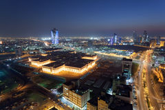 Kuwait City at night Stock Photo