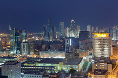 Kuwait City at night. View of Kuwait City at night, Middle East Stock Photos