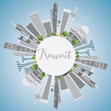 Kuwait City Skyline with Gray Buildings and Blue Sky. Royalty Free Stock Images