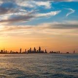 Kuwait city skyline during sunset with amazing cloud Stock Image