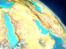 Kuwait de la órbita ilustración del vector