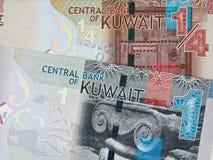 Kuwait die 1 und 1/4-Dinar-Banknoten schließen oben, kuwaitische Geldnahaufnahme Lizenzfreies Stockfoto