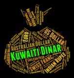 Kuwait-Dinar zeigt ausländische Währung und Prägung an Lizenzfreie Stockfotos