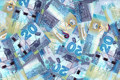 Kuwait 20 Dinars Banknotes Mix Background Stock Photos