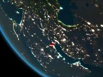 Kuwait en la noche de la órbita ilustración del vector