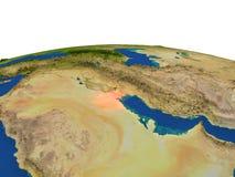 Kuwait en rojo de la órbita libre illustration