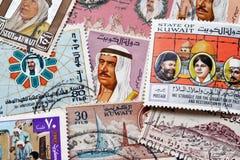Kuwait en sellos Imágenes de archivo libres de regalías