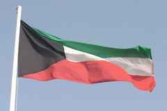 Kuwait flag stock photography