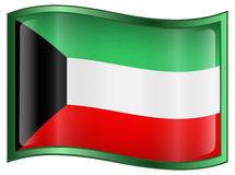 Kuwait Flag Icon Stock Photos