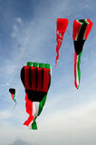Kuwait flag kites Stock Photography