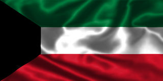 Kuwait flag Royalty Free Stock Photo