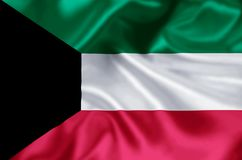 Kuwait flaggaillustration royaltyfri illustrationer