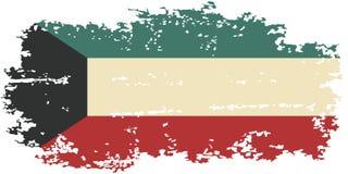 Kuwait grunge flag. Vector illustration. Royalty Free Stock Photos